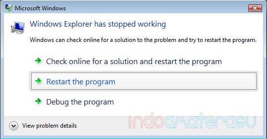 Windows Explorer Has Stoped Working