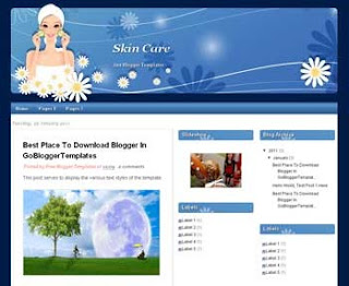 Skin Care Blogger Template