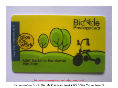 Bicycle Privilege Card