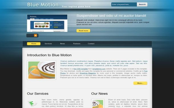 Free Jquery Abstract Blue CSS Website Template