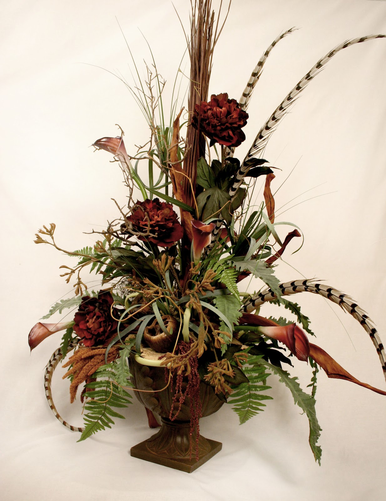 Ana silk flowers silk flower arrangement styles and different shapes - Best dried flower arrangements a colorful winter ...