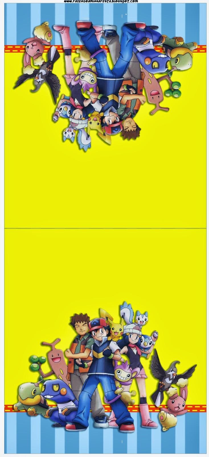 pokemon  free printable candy bar labels
