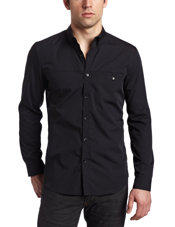 Apparel For Men Calvin Klein Slim Fit Long Sleeve Shirt