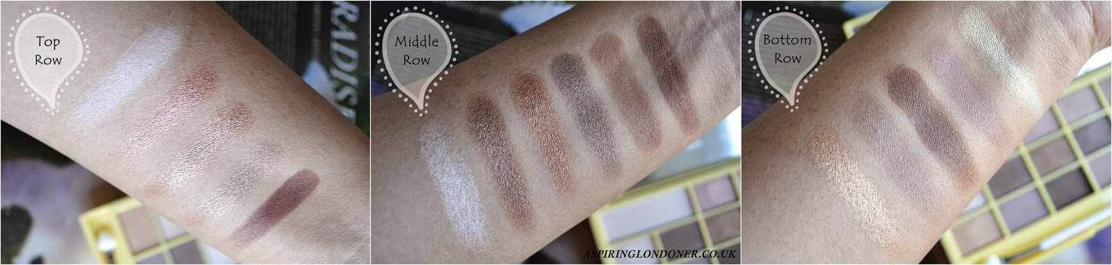 I heart Makeup Naked Chocolate Palette Swatch - Aspiring Londoner
