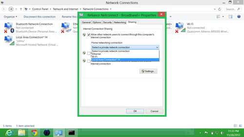 turn windows 8 into wifi hotspot