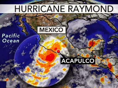 MEXICO: ALERTA ROJA EN GUERRERO Y MICHOACAN POR HURACAN RAYMOND, 22 DE OCTUBRE 2013