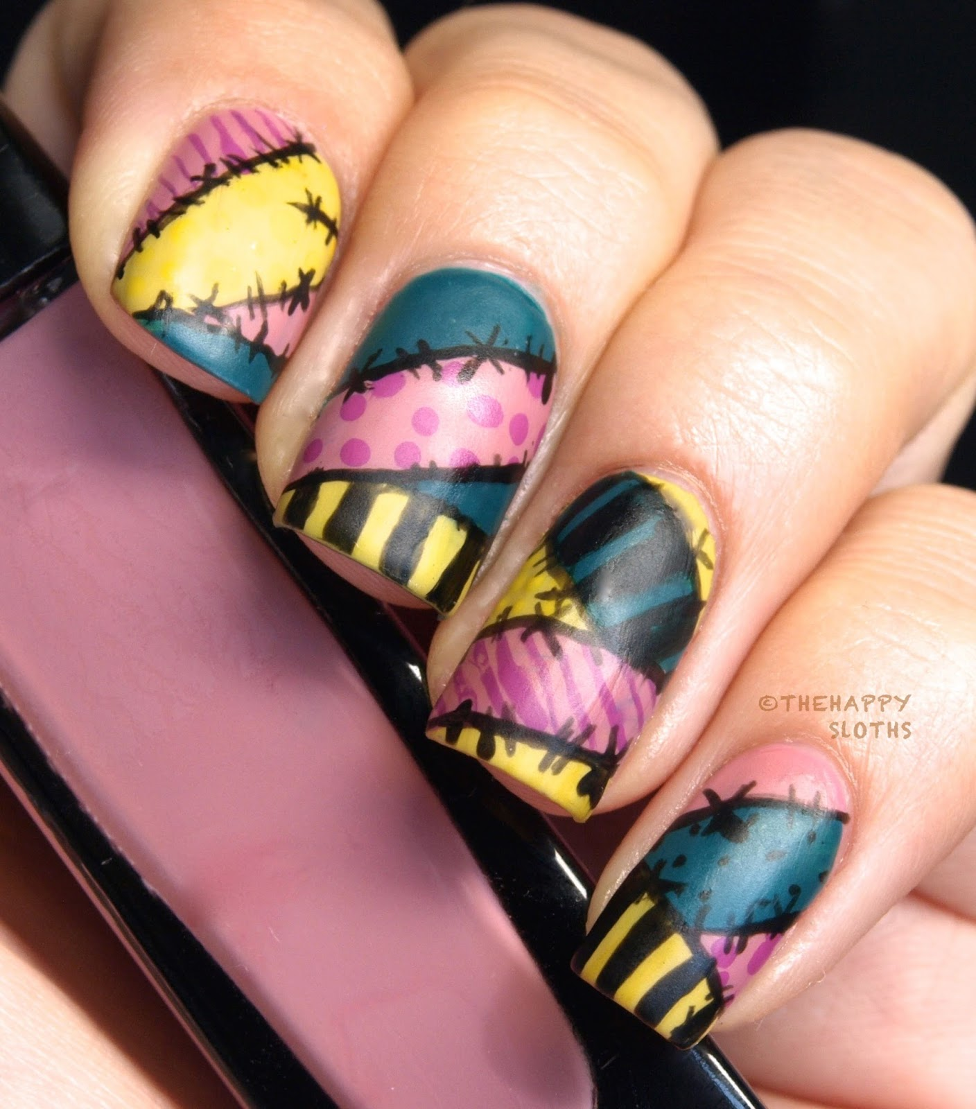 Nightmare Before Christmas Sally Nails - The Nightmare Before Christmas Sally Manicure: My Nail Polish Canada