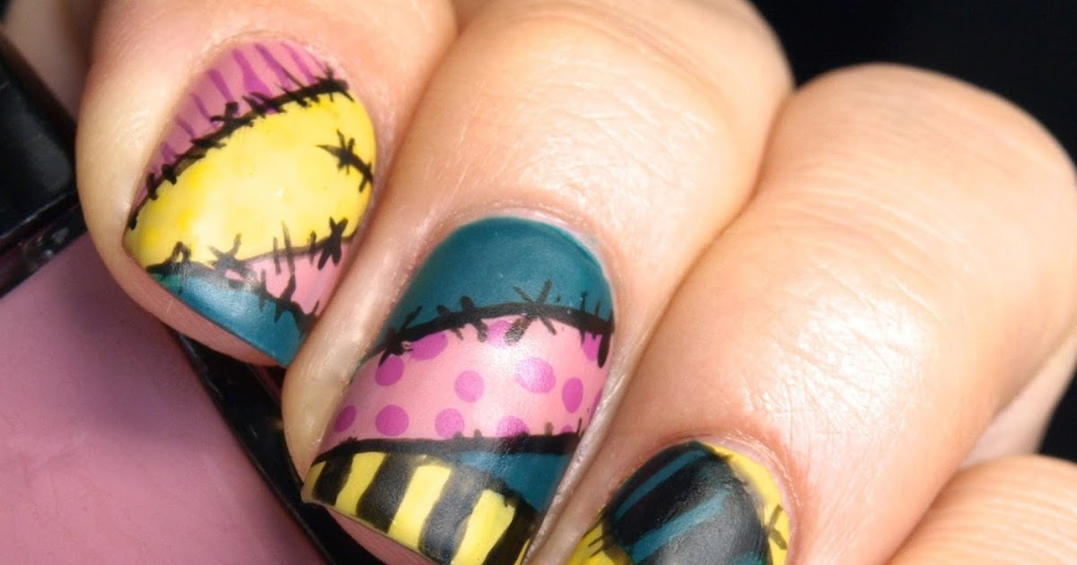 The Nightmare Before Christmas Sally Manicure My Nail