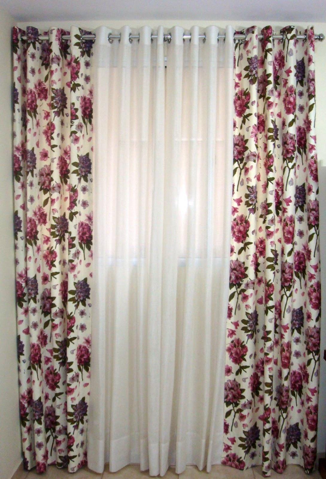 Casa jasmim cortina em linho com chale floral for Cortinas para aulas