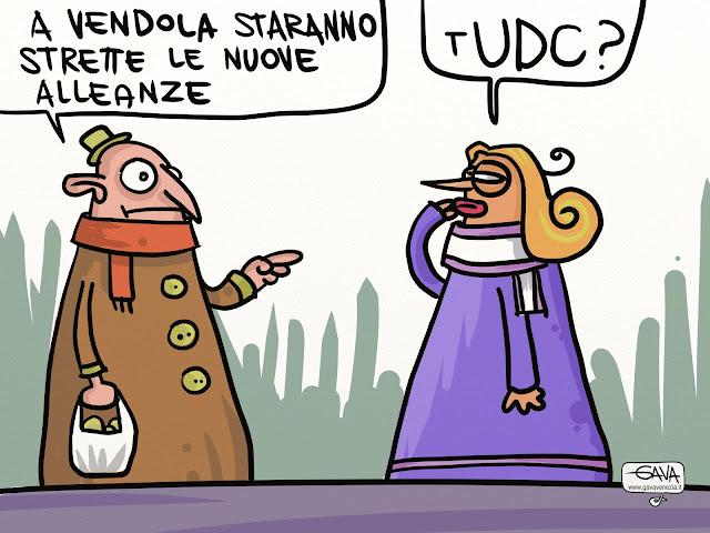 Vendola alleanze Gava Satira Vignette