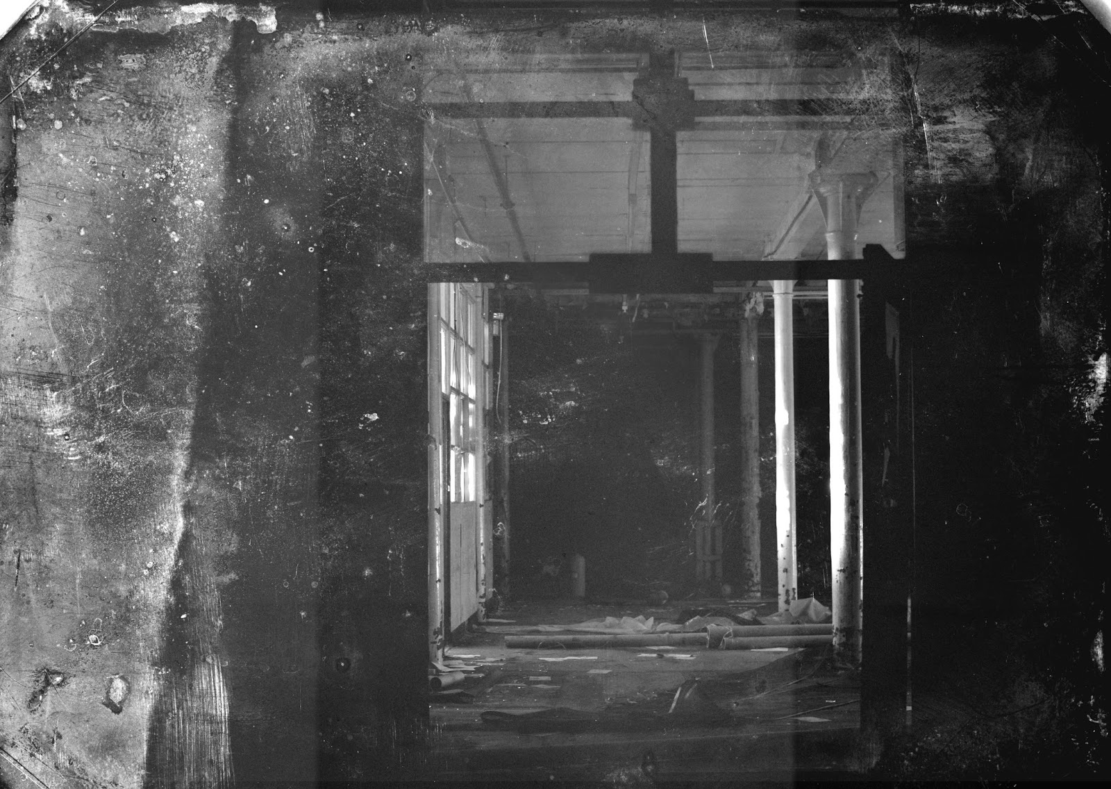 photography, lomo, black and white, texture, film, urbex, exploration, urban decay, derelict, abandoned, adventure, explore, light leaks, damaged photo, atmosphere, experimental, shadows, shades, colour, light, time, history, individual, experience, uncanny, surreal, dream like, real, everyday, fragility, mill, factory, oldham, rochdale, manchester, hartford mill, rock nock mill, pug, misplace