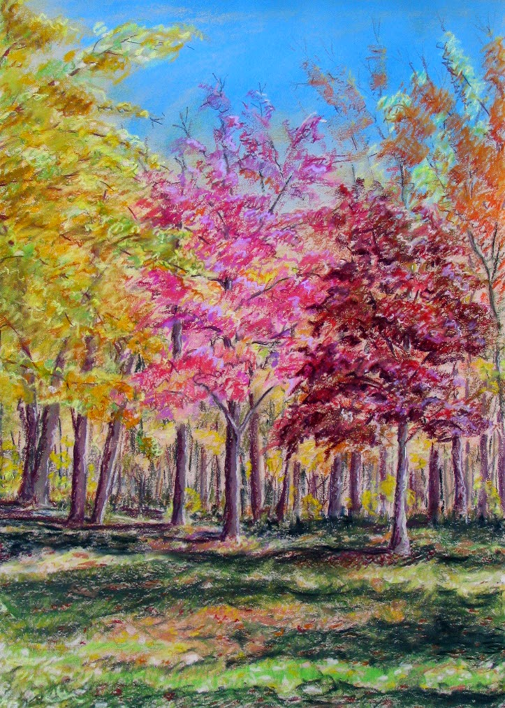 Fall painting, tree picture, kathy schifano