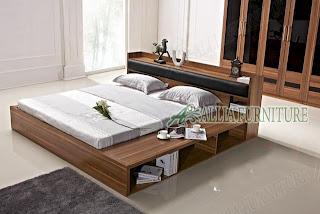 tempat tidur minimalis rak model japan