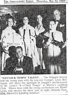 The Whipple Sisters at Shreve Landing Club May 12, 1960 on the Riverfront