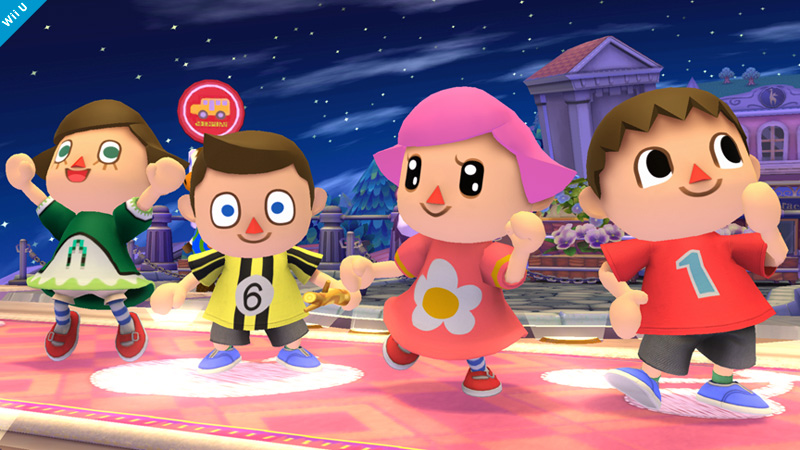 Super Smash Bros Female Villager Skins