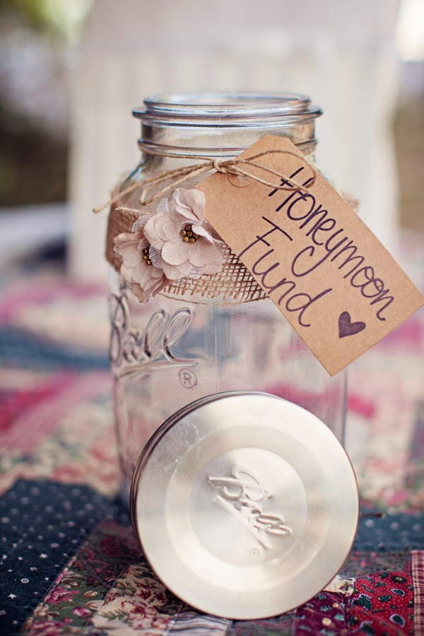 hessian wrapped jar with papercraft flowers and brown label