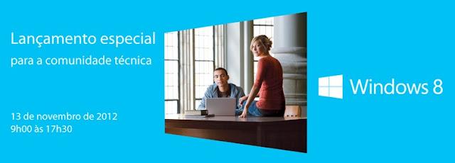 Lançamento especial Windows 8 ao vivo