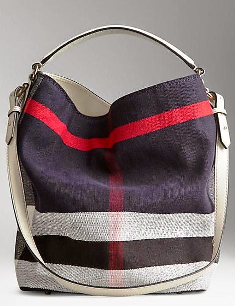 1:1 QUALITY BURBERRY CANVAS HOBO BAG