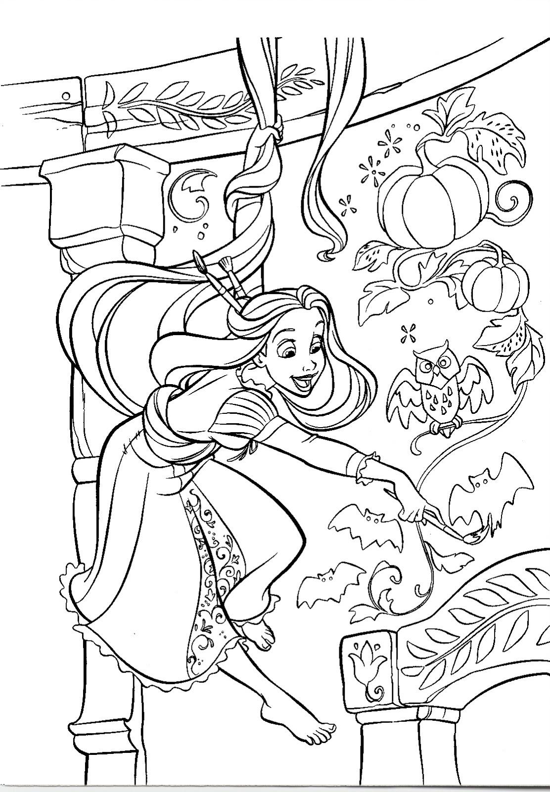 Desenhos de ENROLADOS para colorir Desenho da  - imagens para colorir da rapunzel