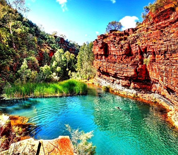 Karijini National Park in  Western Australia