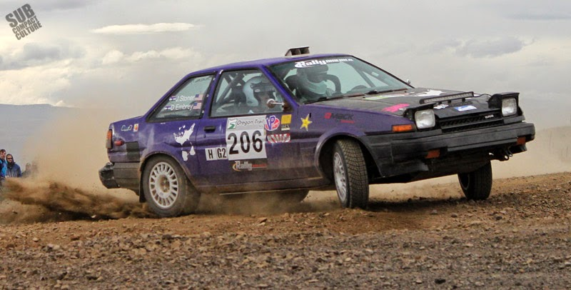 1980s Toyota Corolla rally car