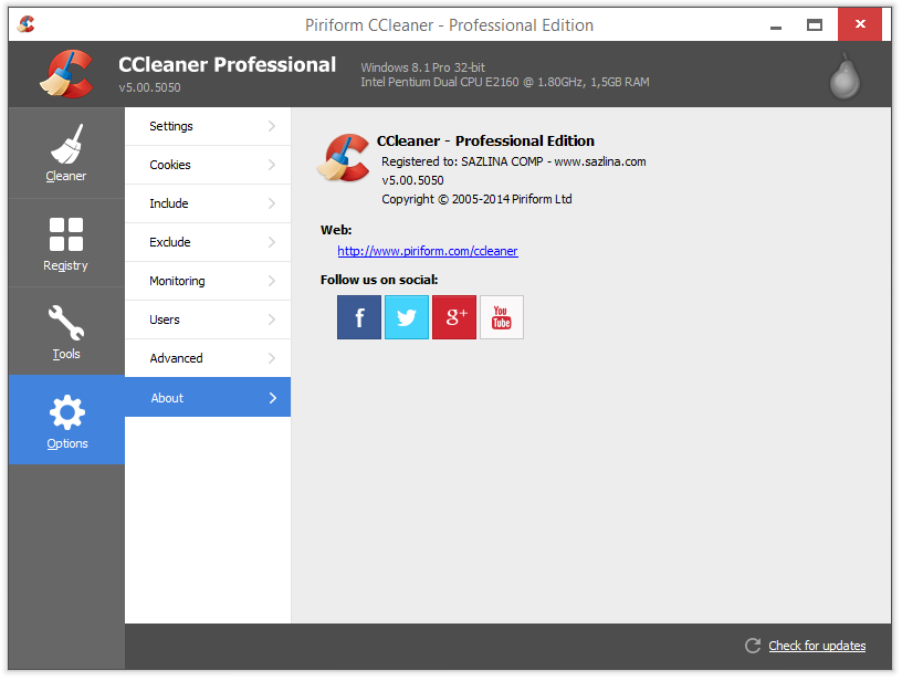 CCleaner v5.00.5035 (BETA) Pro Full