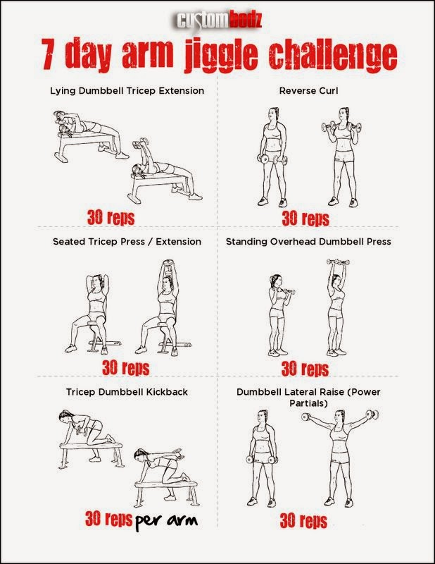 So I have scoured pinterest for arm workouts. These have some new ...