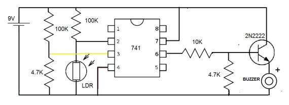 mr breadboard  741 operational amplifier