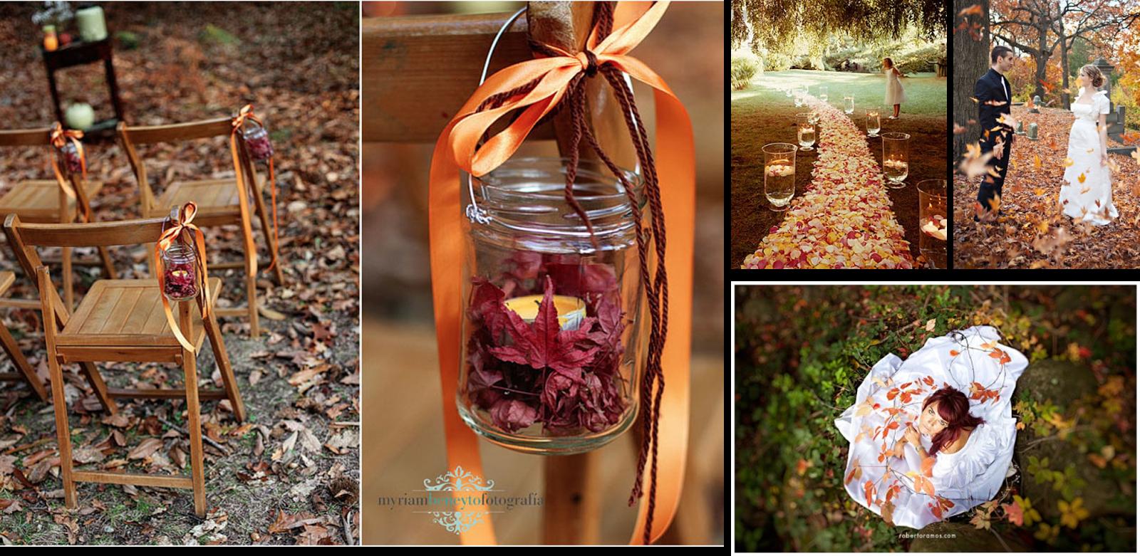 Momentips la magia de una boda en oto o - Hojas de otono para decorar ...