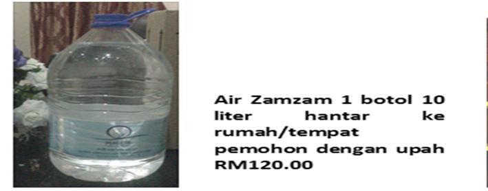 Tempahan ZAMZAM : email mazlan59@gmail.com