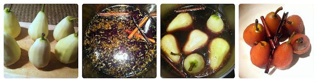 Peras al Marsala y canela