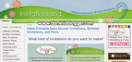 Crea invitaciones online gratis con Invitationland
