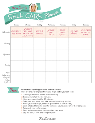 VeegMama Shares Kris Carr's Self Care Planner
