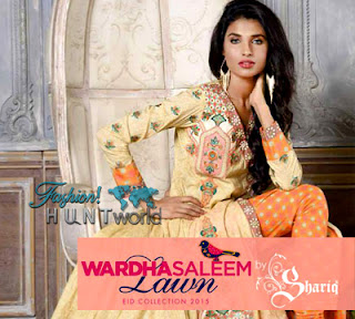 Wardha Saleem Lawn Eid Collection 2015 By Shariq Textile