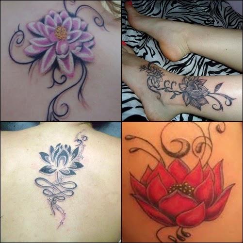 Tatuagem Flor De Lotus No Ombro Feminina