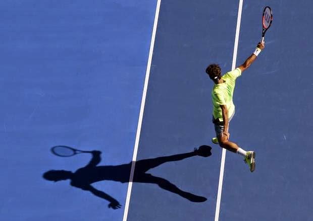 Roger Federer Tenis Backhand Avustralya Açık 2015