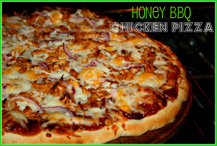 SusieQTpies Cafe: Easy BBQ Chicken Pizza with Honey Pizza Crust