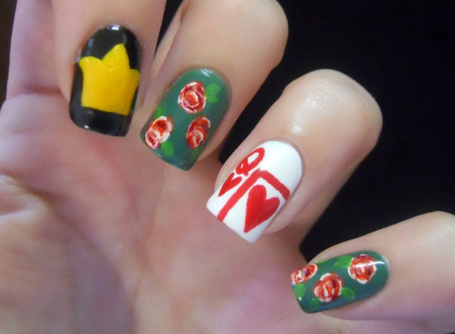 Holy Manicures: Queen of Hearts Nails.
