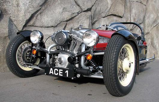 cool stuff we like ace cycle car morgan three wheeler reproduction. Black Bedroom Furniture Sets. Home Design Ideas