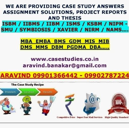 case study answers mba