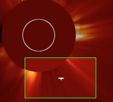 Massive Angel UFO Flying Out Of The Sun , UFO Sighting News