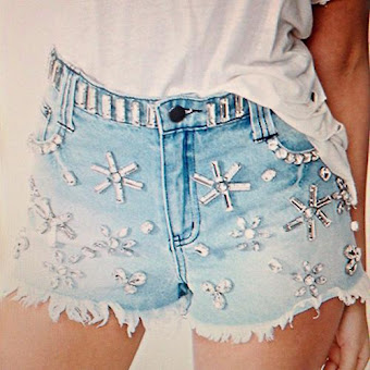 Crystallized Cutoff Shorts ♥