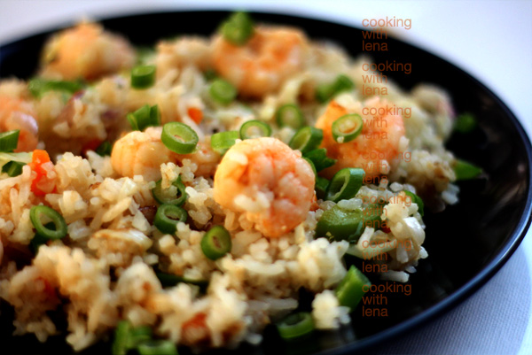Chinese prawns fried rice