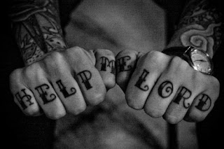 punk knuckle tattoos