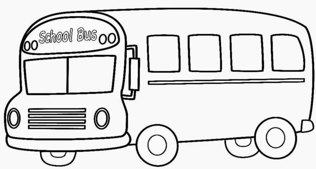 School Bus Coloring Sheet
