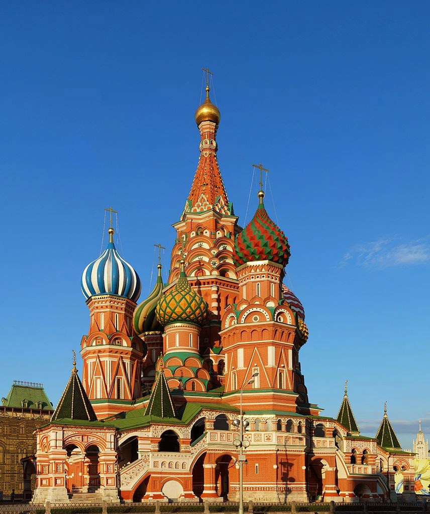 Saint Basil's Cathedral, Moscow, Russia Famous European Places, Most Famous Places in Europe
