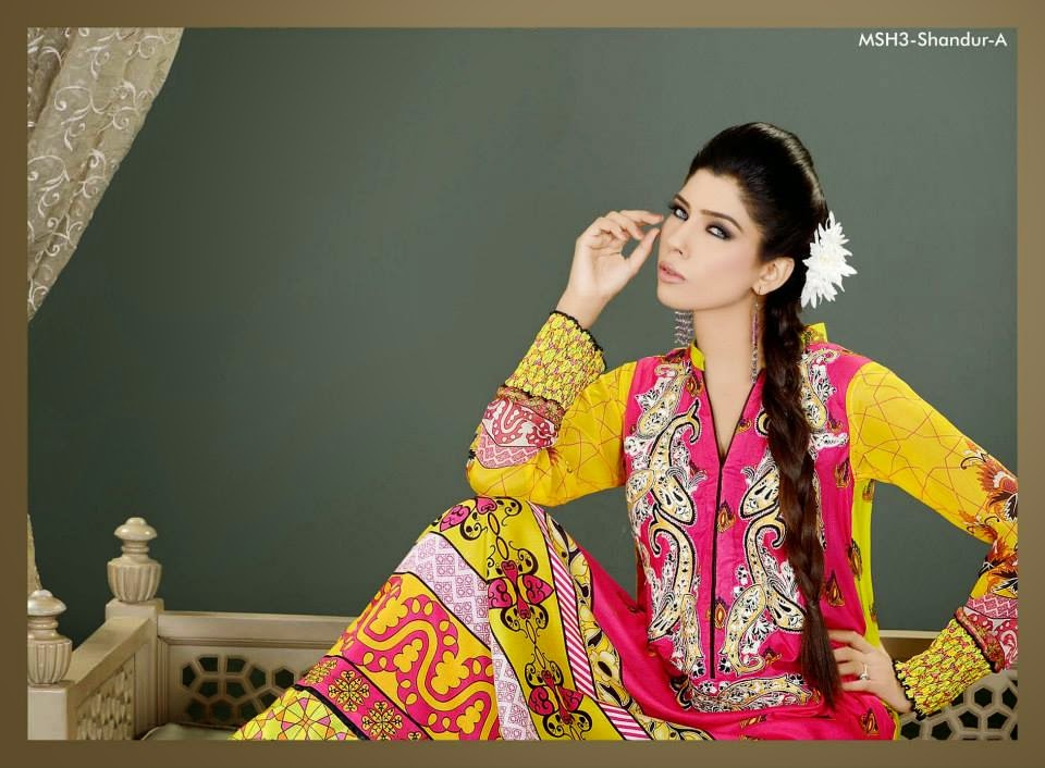 MashaalEmbroideredCollection2014VOL 03ByLalaTextile 5  - Mashaal Embroidered Collection 2014 VOL-3