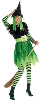 Halloween Kostume Heks Grøn