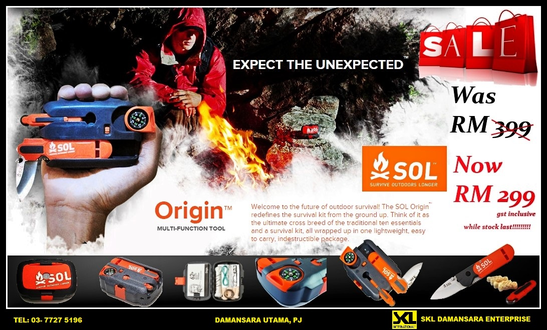 SOL Survival Kits now on Promotion!!!