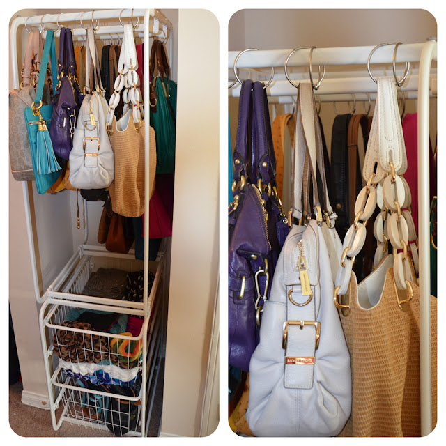 How to organize handbags in closet home improvement - Closet organizer for purses ...